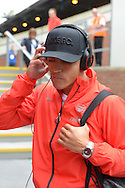 Alexis Sanchez of Arsenal arrives at Selhurst Park before k/o. Barclays Premier league match, Crystal Palace v Arsenal at  Selhurst Park in London on Sunday 16th August 2015.<br /> pic by John Patrick Fletcher, Andrew Orchard sports photography.