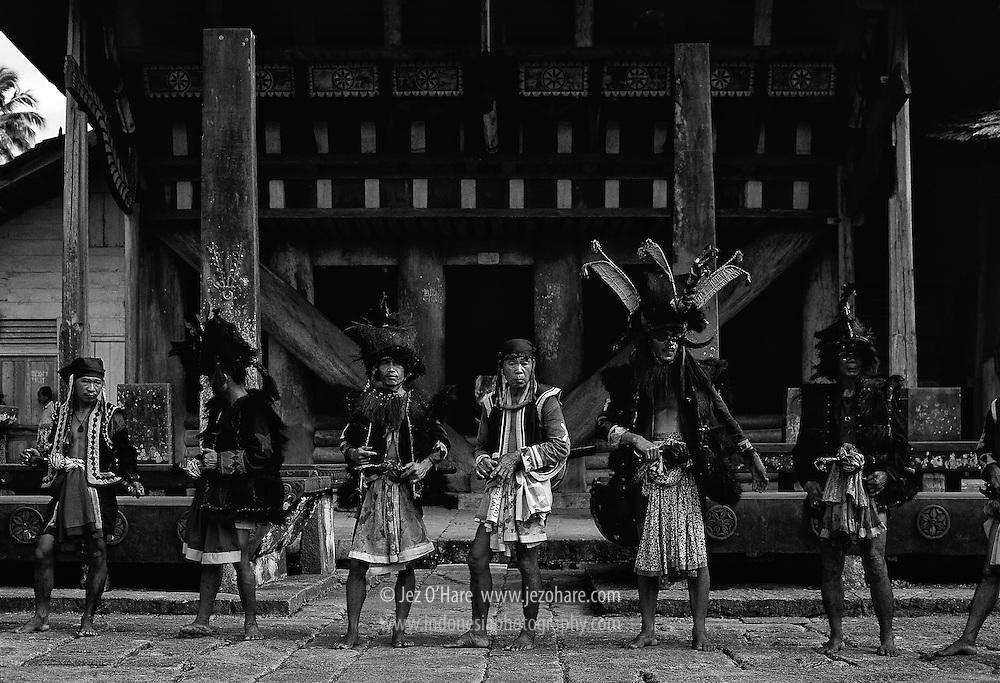 War dance costumes, Bawomataluo, Nias, North Sumatra, Indonesia.