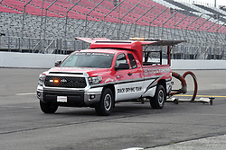 June 22, 2018 - Madison, Illinois, U.S. - MADISON, IL - JUNE 22:  Periodic rainshowers required the track drying crew to work on the trackthe Camping World Truck Series - Eaton 200 on June 22, 2018, at Gateway Motorsports Park, Madison, IL.   (Photo by Keith Gillett/Icon Sportswire) (Credit Image: © Keith Gillett/Icon SMI via ZUMA Press)