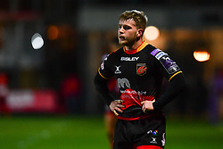 Dragons' Dan Babos<br /> <br /> Photographer Craig Thomas/Replay Images<br /> <br /> EPCR Champions Cup Round 4 - Newport Gwent Dragons v Newcastle Falcons - Friday 15th December 2017 - Rodney Parade - Newport<br /> <br /> World Copyright © 2017 Replay Images. All rights reserved. info@replayimages.co.uk - www.replayimages.co.uk