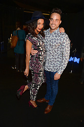 Singer NATE JAMES and SARAH-JANE CRAWFORD at a party to celebrate the 1st birthday of nightclub 2&8 at Mortons held in Berkeley Square, London on 3rd October 2013.