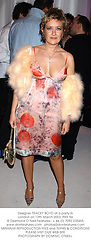 Designer TRACEY BOYD at a party in London on 12th March 2003.PHY 94