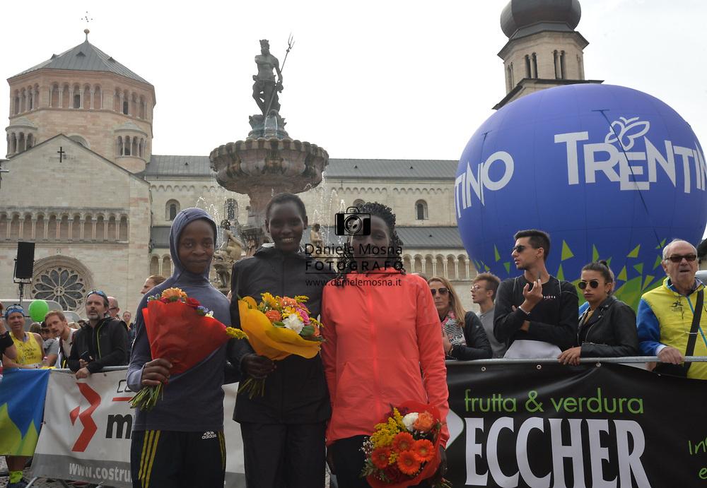 9ª Semi Maratona di Trento Half Marathon - 6 ottobre 2019 –  Corsa su strada internazionale -  06.10.2019, Trento, Trentino, Italia. Podium, vittoria per Rionoripo<br /> © Daniele Mosna WWW.DANIELEMOSNA.IT