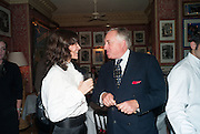 BELLA FREUD; EDMONDO DI ROBILAT, Charles Finch and  Jay Jopling host dinner in celebration of Frieze Art Fair at the Birley Group's Harry's Bar. London. 10 October 2012.