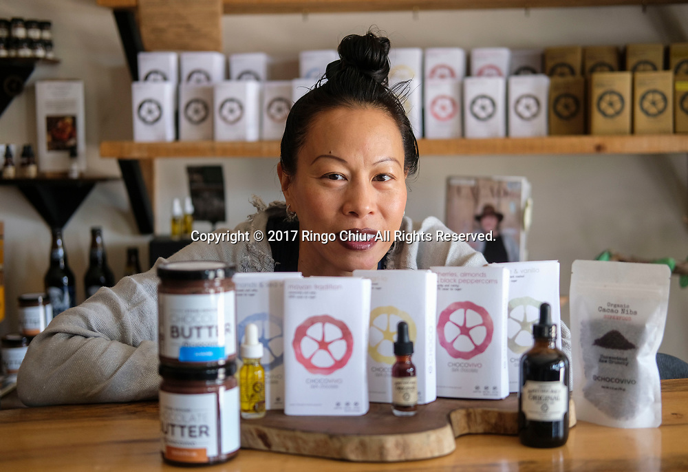 Patricia Tsai of ChocoVivo a chocolate shop in Culver City, California.(Photo by Ringo Chiu/PHOTOFORMULA.com)<br /> <br /> Usage Notes: This content is intended for editorial use only. For other uses, additional clearances may be required.