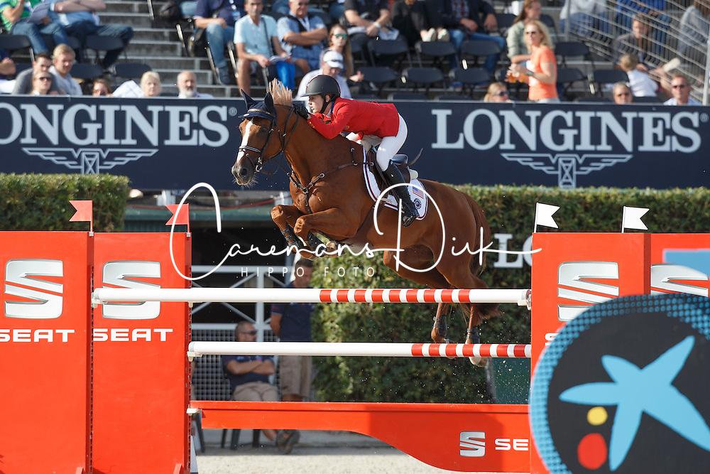 Davis Lucy, (USA), Barron <br /> First Round<br /> Furusiyya FEI Nations Cup Jumping Final - Barcelona 2015<br /> © Dirk Caremans<br /> 24/09/15