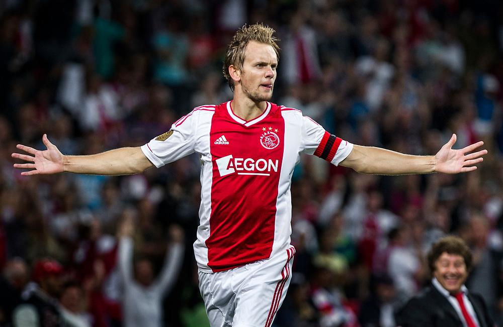 Nederland. Amsterdam, 25-08-2012. Foto: Patrick Post.  Ajax-Nac. Eindstand: 5-0. Ajacied Siem de Jong is blij met zijn doelpunt na 2 minuten die voor de 1-0 zorgde.