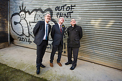 Pictured: Gavin Barrie, City of Edinburgh Council Education Convener, Kevin Stewart and COSLA President David O'Neill  <br /> The latest recipients of the Regeneration Capital Grant Fund were announced today during a visit to Out of the Blue in Edinburgh by Local Government Minister Kevin Stewart. Out of the Blue, on Leith Walk, is an arts and education trust that provides affordable spaces and resources to the local community.  The Minister was accompanied by COSLA President David O'Neill and Gavin Barrie, City of Edinburgh Council Education Convener, as he toured the premises that are set to be refurbished, helping Out of the Blue meet growing local demand.  The Regeneration Capital Grant Fund supports projects in disadvantaged areas that engage and involve local communities and is jointly funded by the Scottish Government and COSLA. <br /> <br /> <br /> Ger Harley | EEm 9 March 2017