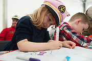 02/07/2017 REPRO FREE:   Sinead Sweeney from  Monivea Park Galway  making a Kite in the SFI tent  at Seafest 2017, the National Maritime Festival which  in Galway.<br /> . Photo:Andrew Downes, xposure .