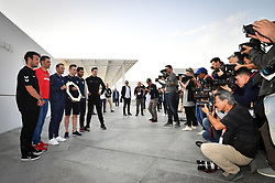 February 23, 2019 - Abu Dhabi - Foto LaPresse - Massimo Paolone.23 Febbraio 2019 Abu Dhabi (Emirati Arabi Uniti).Sport Ciclismo.UAE Tour 2019 - Foto Tor Riders.Nella foto: Mark Cavendish, Vincenzo Nibali, Alejandro Valverde, Elia Viviani, Fernando Gaviria, Tom Dumoulin..Photo LaPresse - Massimo Paolone.February 23, 2019 Abu Dhabi (United Arab Emirates) .Sport Cycling.UAE Tour 2019 - Top rider photo call.In the pic: Mark Cavendish, Vincenzo Nibali, Alejandro Valverde, Elia Viviani, Fernando Gaviria, Tom Dumoulin (Credit Image: © Massimo Paolone/Lapresse via ZUMA Press)