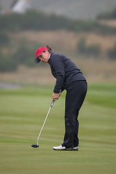 France's Justine Dreher putts out at the 7th hole during her semi final match with Great Britain 3 this morning during day eleven of the 2018 European Championships at Gleneagles PGA Centenary Course. PRESS ASSOCIATION Photo. Picture date: Sunday August 12, 2018. See PA story GOLF European. Photo credit should read: Kenny Smith/PA Wire. RESTRICTIONS: Editorial use only, no commercial use without prior permission