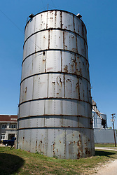 09 June 2012:   Grain elevator, storage and processing plant in McLean Illinois.