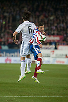 Atletico de Madrid's Lucas and Real Madrid's Sami Kherida during 2014-15 Spanish King Cup match at Vicente Calderon stadium in Madrid, Spain. January 07, 2015. (ALTERPHOTOS/Luis Fernandez)