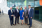 11/07/2017  REPRO FREE:   Barry Egan Enterprise Ireland,  Minister of State Pat Breen, Department of Enterprise and Innovation, Mr George McCourt  Head of innovation GMIT, Breda Fox , LEO Galway and Dr Rick officer VP for research GMIT on a visit to the iHub and GMIT . Photo:Andrew Downes, xposure .