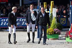 Wathelet Gregory (BEL), Guery Jerome (BEL), Guerdat Philippe (SUI)<br /> Belgium Championship Jumping - Lanaken 2012<br /> © Dirk Caremans