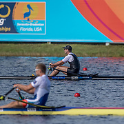 Robbie Manson New Zealand Mens Single Scull<br /> <br /> Semi-Finals races at the World Championships, Sarasota, Florida, USA Friday 29 September 2017. Copyright photo © Steve McArthur / www.photosport.nz