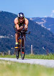 28.08.2016, Zell am See Kaprun, AUT, IRONMAN 70.3 Salzburg, im Bild Mauro Pera (ITA) // Mauro Pera (ITA) during IRONMAN 70.3, Salzburg at Zell am See- Kaprun, Austria on 2016/08/28. EXPA Pictures © 2016, PhotoCredit: EXPA/ JFK