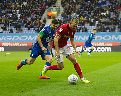 Andi Weimann of Bristol City in action - Mandatory by-line: Jack Phillips/JMP - 11/01/2020 - FOOTBALL - DW Stadium - Wigan, England - Wigan Athletic v Bristol City - English Football League Championship