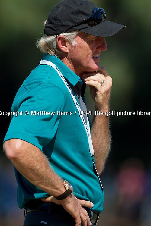 Greg NORMAN (AUS) (coaching with Gary WOODLAND (USA) - during Wednesday practice US Open Championship 2014,Pinehurst No 2,Pinehurst,North Carolina,USA.