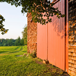 The barn at Raspberry Farm in Hampton Falls, New Hampshire.