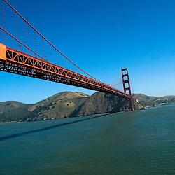Aerial photograph of the Golden Gate Bridge