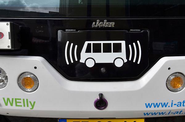 Nederland, Nijmegen,22-9-2018Een zelstandig rijdende elektrisch aangedreven zelfsturende auto, die zonder chauffeur zijn passagiers van a naar b brengt.FOTO: FLIP FRANSSEN