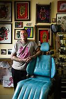 Eric Reed at Alameda Tattoo.
