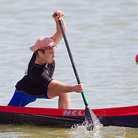 Mykhaylo Koshman from Ukraine paddles his boat during the C1 men Canoe 5000m final of the 2011 ICF World Canoe Sprint Championships held in Szeged, Hungary on August 21, 2011. ATTILA VOLGYI
