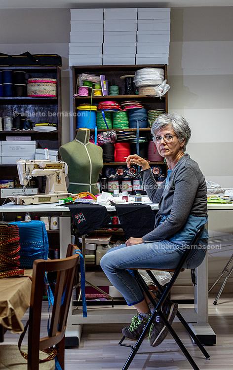Italy, Capannori, Daccapo tailoring workshop. Marcella Nicolini