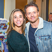 NLD/Amsterdam/20171114 - Bn-ers schrijven Sinterklaasboeken, Ellen Hoog en partner Kelvin de Lang