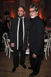 Left to right, KABIR BEDI and Bollywood superstar Amitabh Bachcha  at the Royal Rajasthan Gala 2009 benefiting the Indian Head Injury Foundation held at The Banqueting House, Whitehall, London on 9th November 2009.