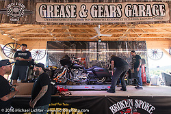 Grease and Gears stage in the new Broken Spoke area of the Iron Horse Saloon during the Sturgis Black Hills Motorcycle Rally. SD, USA.  Wednesday, August 10, 2016.  Photography ©2016 Michael Lichter.