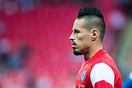 Slovakia (17) Marek HAMSIK (C)  during the warm up before  FIFA World Cup Qualifier match between England and Slovakia at Wembley Stadium, London, England on 4 September 2017. Photo by Sebastian Frej.