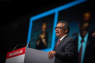 22nd International AIDS Conference (AIDS 2018) Amsterdam, Netherlands.  <br /> <br /> Photo shows Director-General of the World Health Organisation, WHO, Dr. Tedros Adhanom Ghebreyesus.<br /> <br /> Photo©Steve Forrest/Workers' Photos/ IAS
