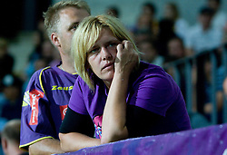Dissapointed Fans of Maribor at Third Round of Champions League qualifications football match between NK Maribor and FC Zurich,  on August 05, 2009, in Ljudski vrt , Maribor, Slovenia. Zurich won 3:0 and qualified to next Round. (Photo by Vid Ponikvar / Sportida)