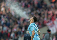 Football - 2018 Carabao (EFL/League) Cup Final - Manchester City vs. Arsenal<br /> <br /> Kyle Walker (Manchester City) spits out water before kick off at Wembley.<br /> <br /> COLORSPORT/DANIEL BEARHAM
