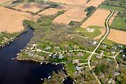 Aerial view of Wiegand's Bay on Lake Wisconsin, near Merrimac, Sauk County, Wisconsin, USA.