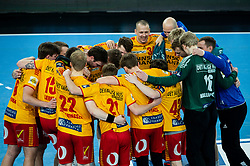 Players of GOG Gudme celebrate after winning during handball match between RK Trimo Trebnje and GOG Gudme in 9th Round of EHF Europe League 2020/21, on February 24, 2021 in Arena Stozice, Ljubljana, Slovenia. Photo by Vid Ponikvar / Sportida