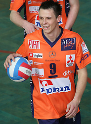 Captain Matija Plesko of ACH Volley at 4th and final match of Slovenian Voleyball  Championship  between OK Salonit Anhovo (Kanal) and ACH Volley (from Bled), on April 23, 2008, in Kanal, Slovenia. The match was won by ACH Volley (3:1) and it became Slovenian Championship Winner. (Photo by Vid Ponikvar / Sportal Images)/ Sportida)