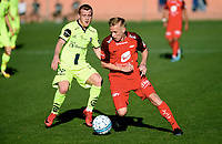 Fotball , 16. februar 2018 , Privatkamp , Brann -Sarpsborg<br /> Taijo Teniste  , Brann<br /> Tobias Heintz , S08