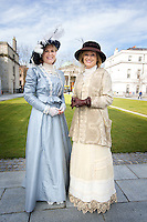 RTE Presenters Anne Cassin and Mary Kenedy dress in vintage style as part of the RTE Reflecting The Rising Event .<br />Photo: Tony Gavin 28/3/2016