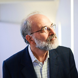 Giuseppe Longo, a Research Director at CNRS, posing at the Cavailles centre of Ecole Normale Superieure (ENS). Paris, France. September 26, 2018.<br /> Giuseppe Longo, directeur de recherche au CNRS, pose au centre Cavailles de l'Ecole Normale Superieure (ENS). Paris, France. 26 Septembre 2018.