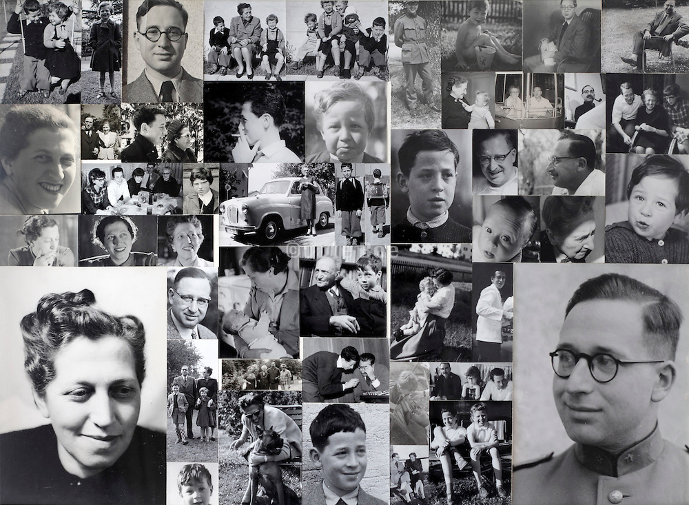 collage with old family images