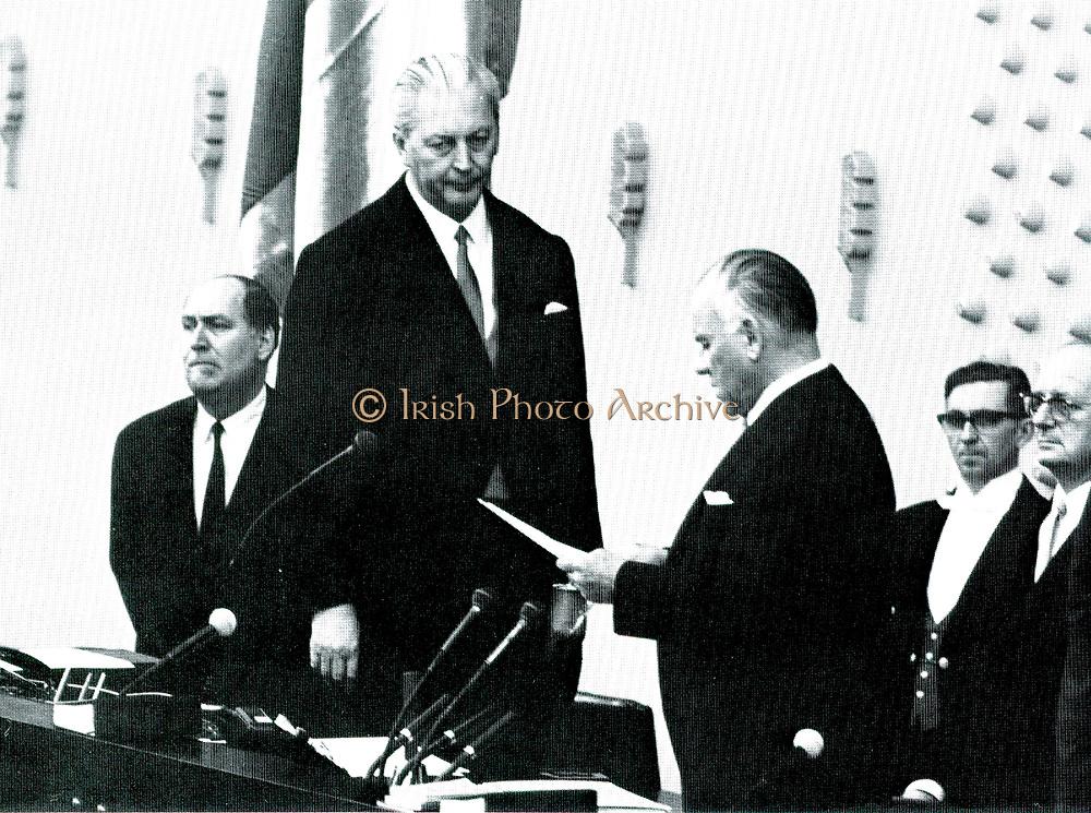 Kurt Georg  Kiesinger (1904-1988) sworn in as West German Chancellor (1966-1969).