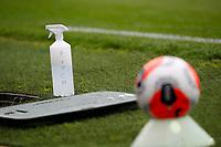 Football - 2019 / 2020 Premier League - Everton vs Aston Villa<br /> <br /> Premier League match ball and disinfectant at Goodison Park<br /> <br /> COLORSPORT/LYNNE CAMERON