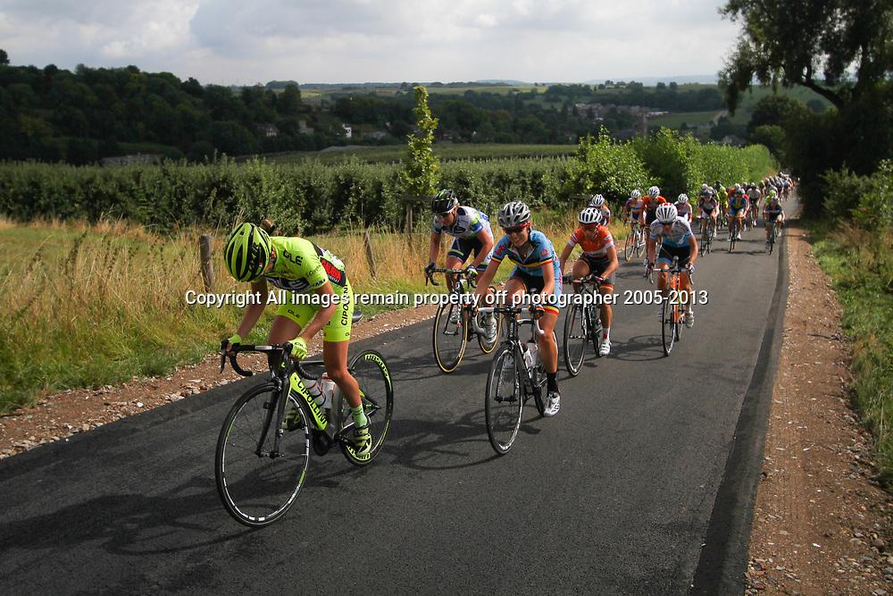 Boels Rental Ladies Tour Bunde-Valkenburg climb Eyserbos with leader Trixi Worrack, Anna van der Breggen, Loes Gunnewijk