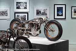 """Shinya Kimura's 1914 Excelsior in Michael Lichter's annual Motorcycles as Art Show """"Naked Truth"""" at the Buffalo Chip during the 75th Annual Sturgis Black Hills Motorcycle Rally.  SD, USA.  August 6, 2015.  Photography ©2015 Michael Lichter."""
