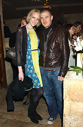 Model JADE PARFITT and TOBY BURGESS at a party hosted by Daniella Helayel of fashion label ISSA held at Taman Gang, 141 Park Lane, London on 15th February 2006.<br /><br />NON EXCLUSIVE - WORLD RIGHTS