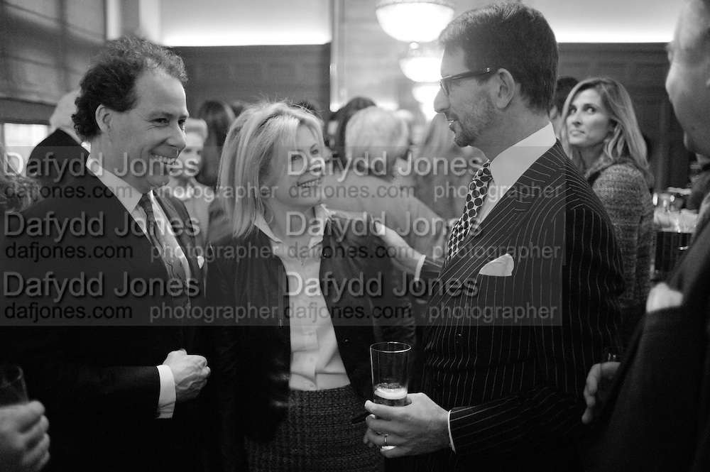 VISCOUNT DAVID LINLEY; VISCOUNTESS SERENA LINLEY; COUNT MANFREDI DELLA GHERARDESCA, Graydon and Anna Carter host a lunch for Carolina Herrera to celebrate the ipening of her new shop on Mount St. .The Connaught. London. 20 January 2010