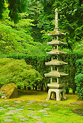 Pagoda at the Japanese Gardens, Portland, Oregon